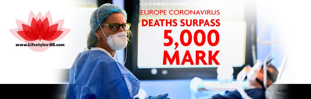 Europe coronavirus deaths surpass 5,000 mark